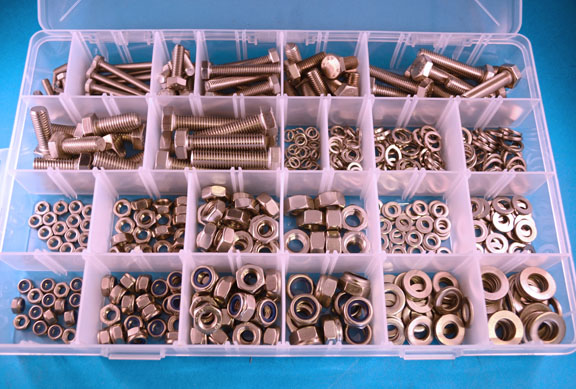 Mixed Packs Bolts Nuts Washers Stainless Steel