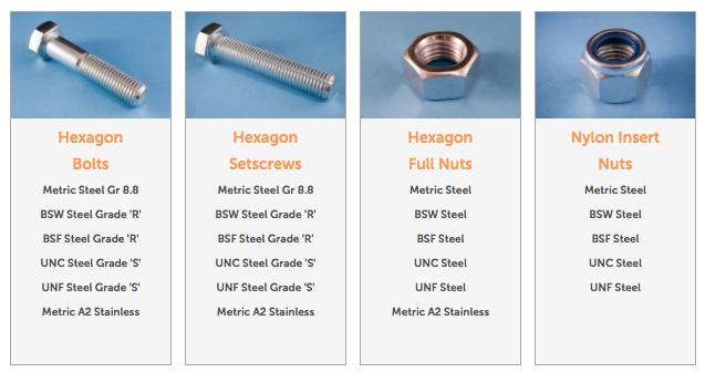 buy fasteners online bsf bsw unc unf metric