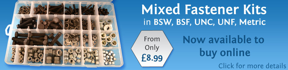 mixed fastener kits - assorted packs of fasteners