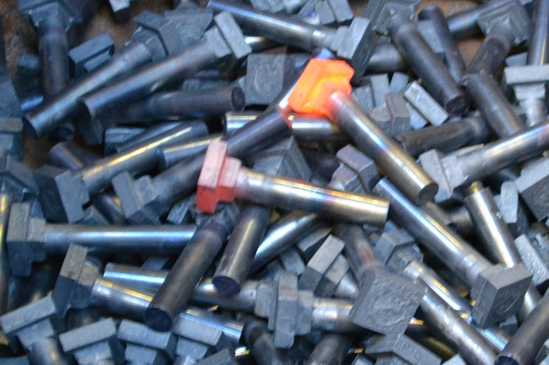 square head bolts forged