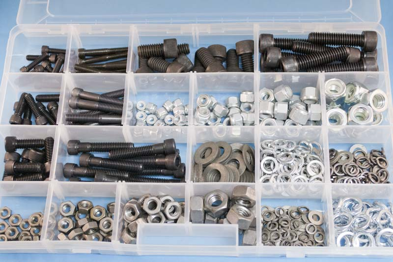 mixed kit of bsf and bsw socket head bolts nuts and washers