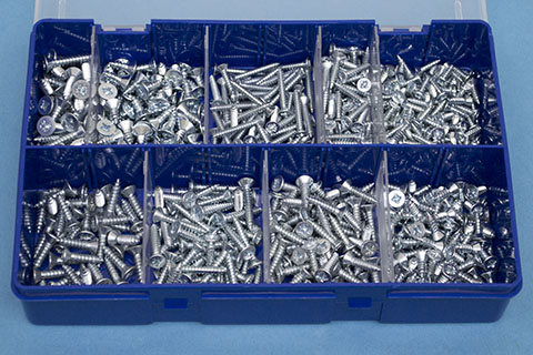 mixed kit of pozi csk self tapping screws